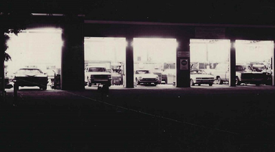 Auto Maintenance Shop at night